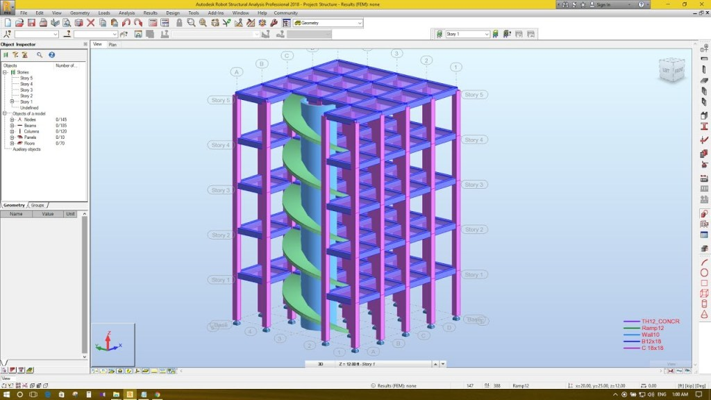 Robot Structural Analysis interfaz