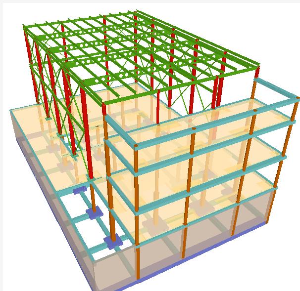 estructura modelo cypecad