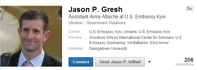 Jason P.Grash - Mitarbeiter der US-Botschaft in der Ukraine im März 2014