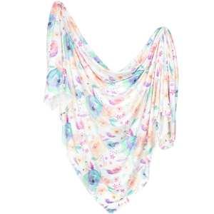 Copper Pearl Bloom Knit Swaddle Blanket