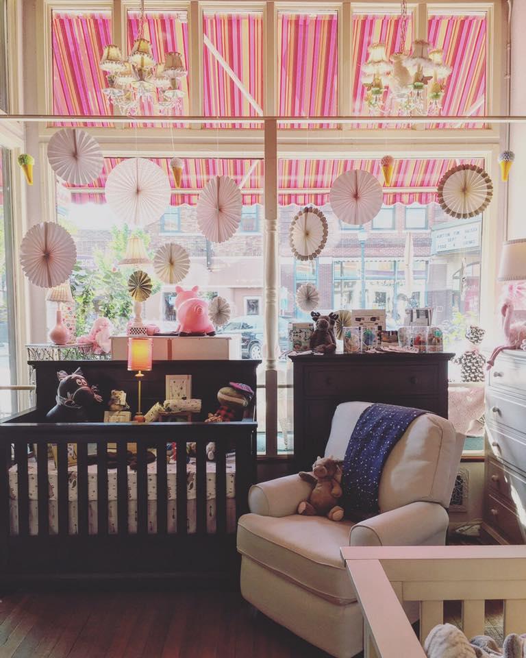 Inside of PeekaBoo Baby Clothing and Gift Shop Cedar Falls Iowa