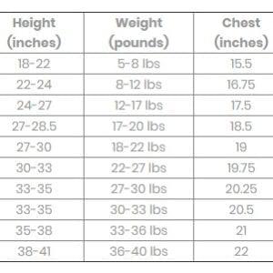 Angel Dear Size Chart