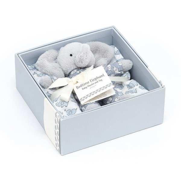 Jellycat Bedtime Elephant Muslin & Toy Set