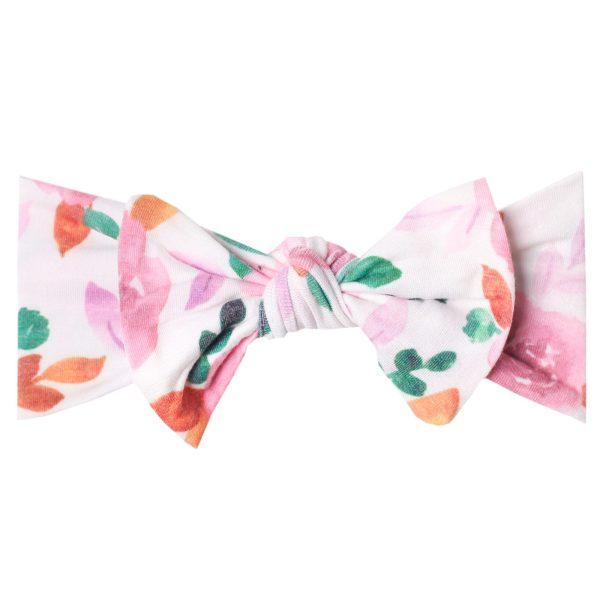 Copper Pearl Headband Bow Sienna