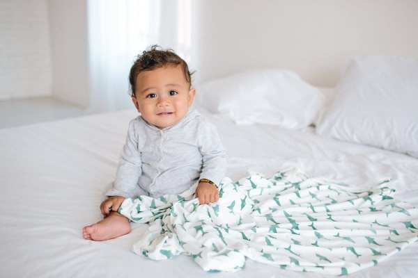 Copper Pearl Pacific Swaddle Blanket