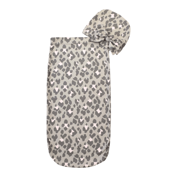 Itzy Ritzy Cutie Cocoon and Hat Leopard