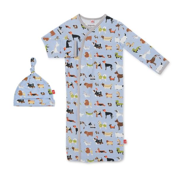Magnetic Me In-Dog-Nito Magnetic Sack Gown and Hat Set