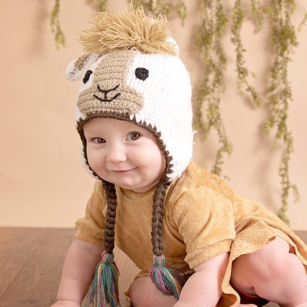 Huggalugs Llama Beanie Hat