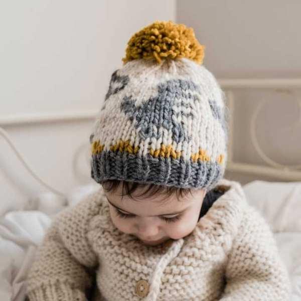 Huggalugs T-Rex Knit Beanie Hat