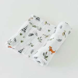Little Unicorn Muslin Swaddle Blanket - Forest Friends