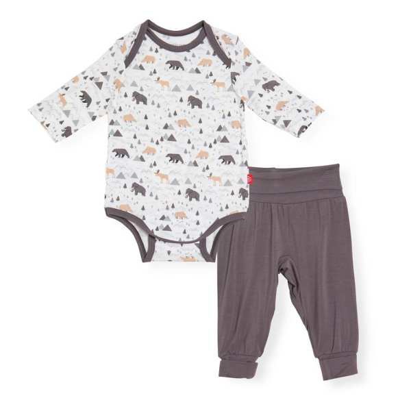 Magnetic Me Tiny Tundra Magnetic Bodysuit + Harem Pants