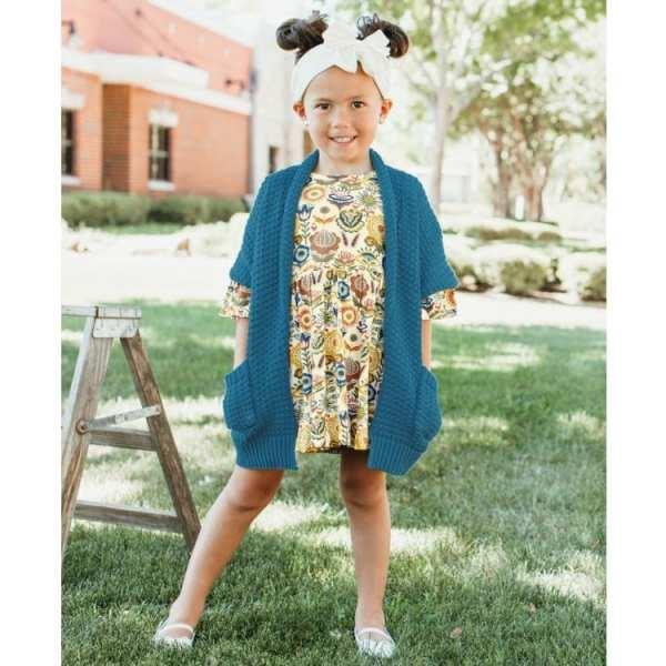 RuffleButts Paisley Harvest Mia Dress
