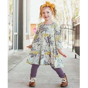 RuffleButts Walk in the Park Tiered Dress