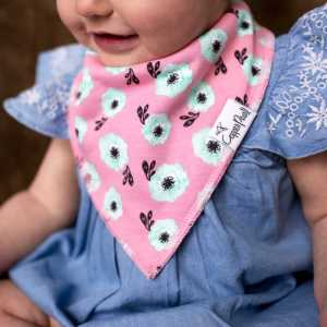 Copper Pearl Bloom Bandana Bib 4-Pack