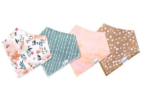 Copper Pearl Autumn Bandana Bib 4-Pack