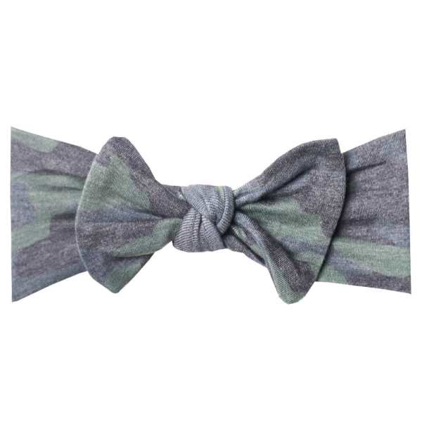 Copper Pearl Hunter Knit Headband Bow