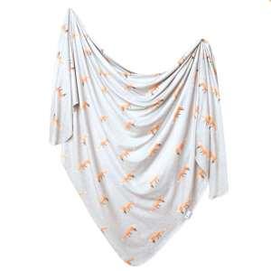 Copper Pearl Swift Knit Swaddle Blanket