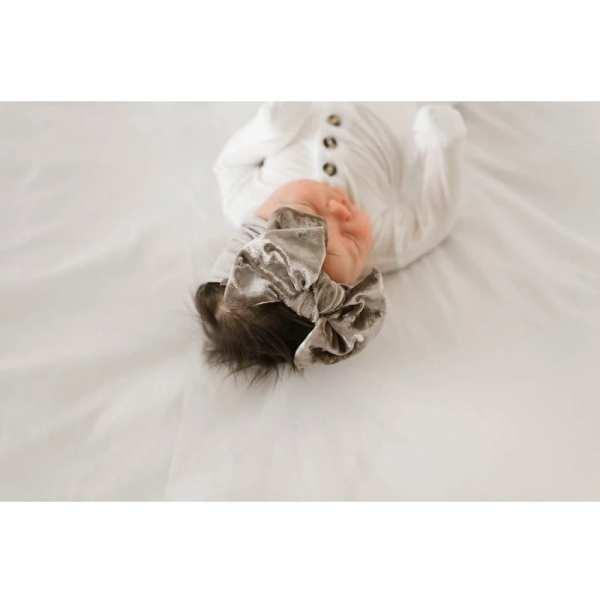 Baby Bling Fab-Bow-Lous VELVET - Crushed Mushroom