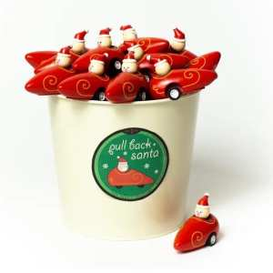 Jack Rabbit Creations Pull-Back Santa Sleigh