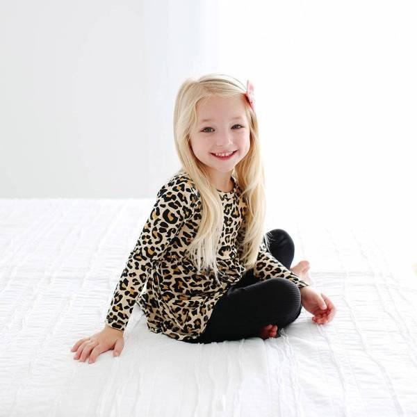 Posh Peanut Lana Leopard Peplum Top and Legging