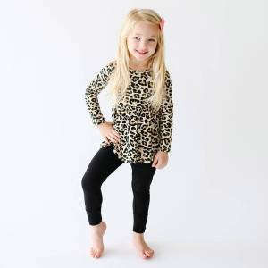 Posh Peanut Lana Leopard Peplum Top and Legging
