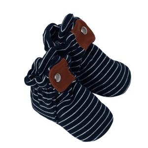 Robeez Snap Booties - Navy Stripe
