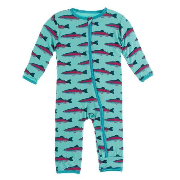 KicKee Pants Glass Rainbow Trout Coverall with Zipper