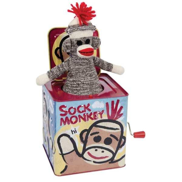 Fat Brain Toys Sock Monkey Jack in the Box