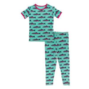 KicKee Pants Glass Rainbow Trout Short Sleeve Pajama Set