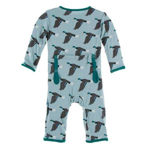 KicKee Pants Jade Mallard Duck Coverall with Zipper
