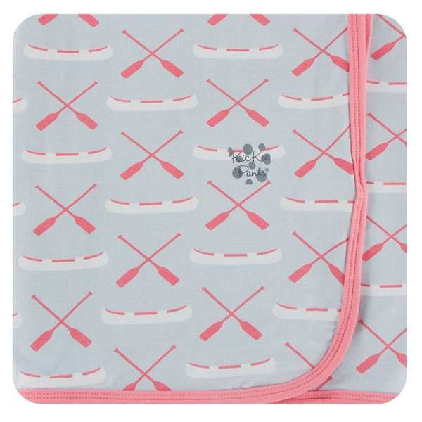 KicKee Pants Dew Paddles and Canoe Swaddle Blanket