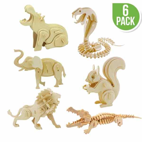 DIY 3D Wooden Puzzle Wild Animals