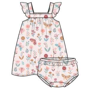 Angel Dear Butterfly Garden Petal Pink Sundress