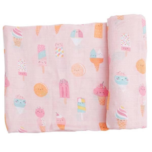 Angel Dear Ice Cream Pink Swaddle Blanket