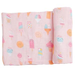 Angel Dear Ice Cream Pink Swaddle Blanket