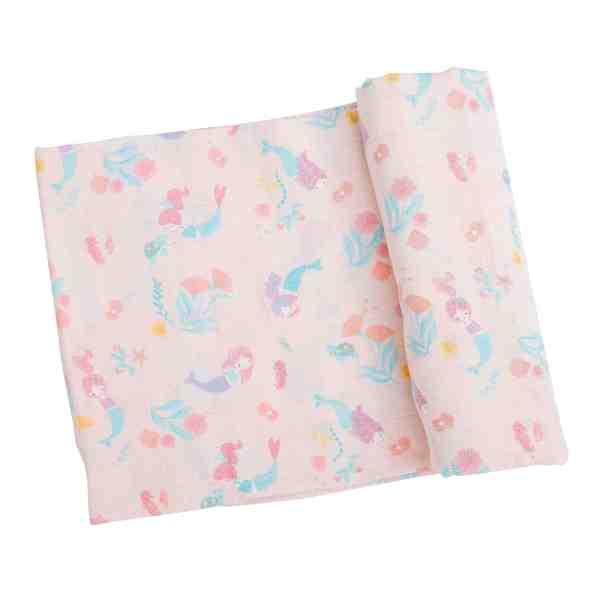 Angel Dear Pink Mermaids Swaddle Blanket