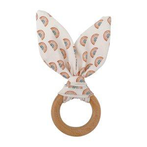 Chewable Charm Crinkle Bunny Ears Teether - Rainbow