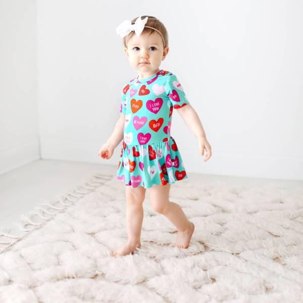 Posh Peanut Valerie Twirl Skirt Bodysuit