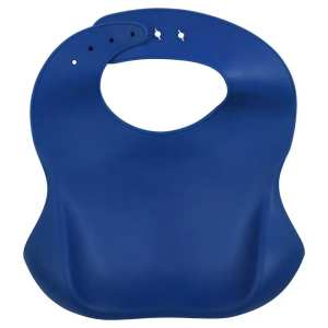 Three Little Tots Silicone Bib with Crumb Catcher - Lion