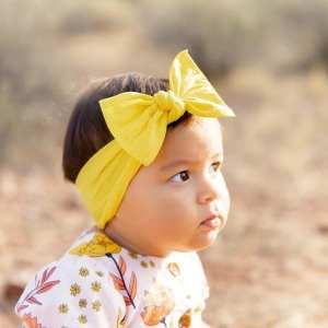 Baby Bling Classic Knot Headband - Canary