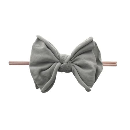 Baby Bling Fab-Bow-Lous SKINNY - Blush Grey