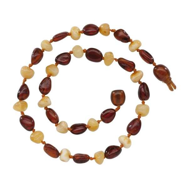 Cherished Moments Amber Teething Necklace - Light Cherry/Milk Unpolished 12.5""