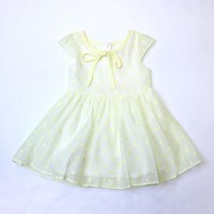 Doe a Dear Polka Dots Print with Crepe Overlay Dress