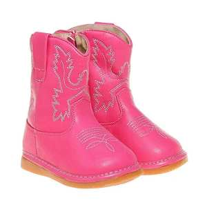 Squeaky Cowgirl Boots - Hot Pink Leather