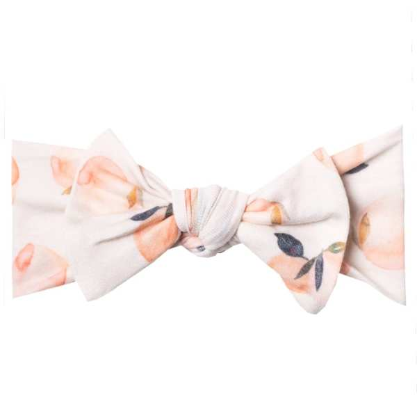 Copper Pearl Caroline Knit Headband Bow