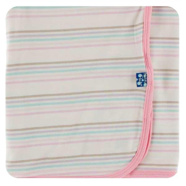 KicKee Pants Cupcake Stripe Swaddle Blanket