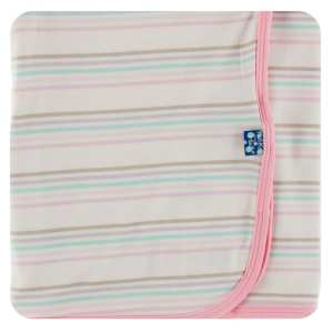 KicKee Pants Cupcake Stripe Swaddle Blanket