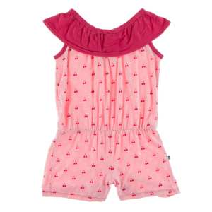 KicKee Pants Lotus Cherries and Blossoms Summer Romper