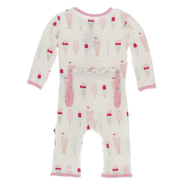 KicKee Pants Natural Ice Cream Shop Coverall with Zipper
