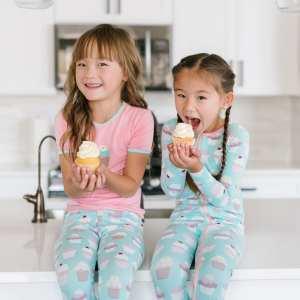 KicKee Pants Summer Sky Cupcakes Toddler Footie with Zipper